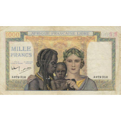 AEF - Pick 9 - 1'000 francs - 1942 - Etat : TTB+
