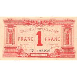 Agen - Pirot 2-3b - 1 franc - 05/11/1914 - Etat : TB+