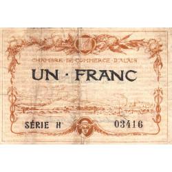 Alais (Alès) - Pirot 4-5 - 1 franc - Série H - 16/08/1915 - Etat : TB