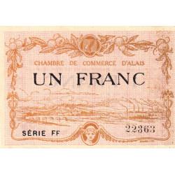 Alais (Alès) - Pirot 4-9 - 1 franc - Série FF - 30/03/1916 - Etat : TTB+