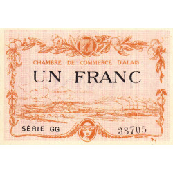 Alais (Alès) - Pirot 4-9 - 1 franc - Série GG - 30/03/1916 - Etat : NEUF
