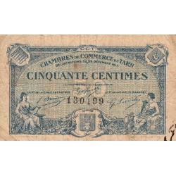 Albi / Castres / Mazamet (Tarn) - Pirot 5-9 variété - 50 centimes - 1917 - Etat : TB