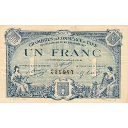 Albi / Castres / Mazamet (Tarn) - Pirot 5-13 - 1 franc - 22/12/1917 - Etat : TTB