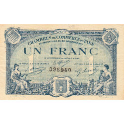 Albi / Castres / Mazamet (Tarn) - Pirot 5-13a - 1 franc - 1917 - Etat : TTB
