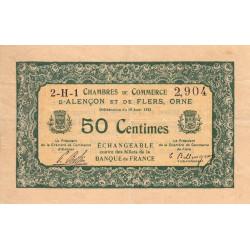 Alençon / Flers (Orne) - Pirot 6-16 - 50 centimes - Série 2H1 - 10/08/1915 - Etat : TTB