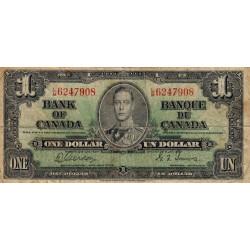 Canada - Pick 58d - 1 dollar - 1938 - Etat : TB