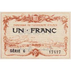 Alais (Alès) - Pirot 4-5 - 1 franc - Série G - 16/08/1915 - Etat : SPL