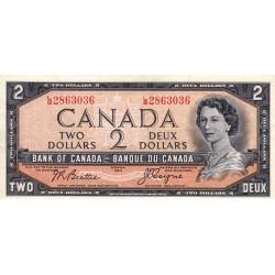 Canada - Pick 76a - 2 dollars - 1955 - Etat : SUP