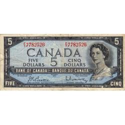 Canada - Pick 77b - 5 dollars - 1961 - Etat : B
