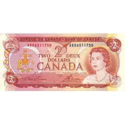 Canada - Pick 86a_2 - 2 dollars - 1974 - Etat : TTB+