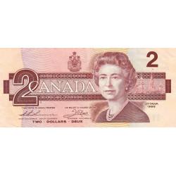 Canada - Pick 94b_1 - 2 dollars - 1987 - Etat : TTB