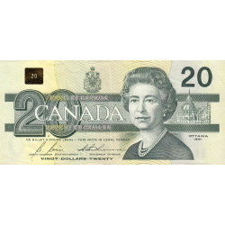 Canada - Pick 97b1 - 20 dollars - 1994 - Etat : TTB