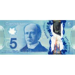 Canada - Pick 106b - 5 dollars - 2014 - Polymère - Etat : NEUF
