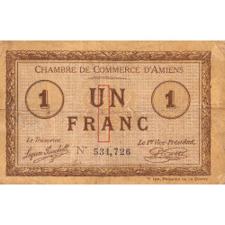 Amiens - Pirot 7-28 - 1 franc - 1915 - Etat : TB-