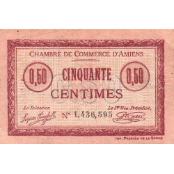 Amiens - Pirot 7-32 - 50 centimes - 1915 - Etat : TB