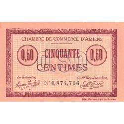 Amiens - Pirot 7-32 - 50 centimes - 1915 - Etat : SUP+