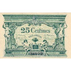 Angers (Maine-et-Loire) - Pirot 8-4 - 25 centimes - Série J - 11/1917 - Etat : TTB+