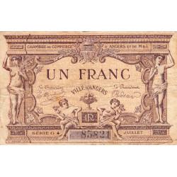 Angers (Maine-et-Loire) - Pirot 8-12 - 1 franc - 1915 - Etat : TB-