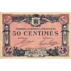 Angoulême - Pirot 9-13 - 50 centimes - 3ème série - 15/01/1915 - Etat : TB+