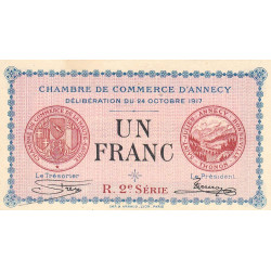 Annecy - Pirot 10-12 - 1 franc - 1917 - Etat : SPL