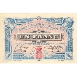 Annonay - Pirot 11-12 - 1 franc - 1917 - Etat : NEUF