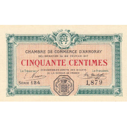 Annonay - Pirot 11-15 - 50 centimes - 1917 - Etat : NEUF