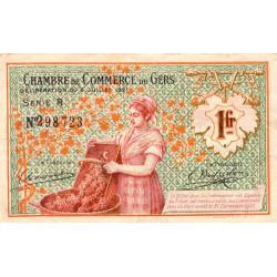 Auch (Gers) - Pirot 15-33b - 1 franc - Série R - 06/07/1921 - Etat : TTB-