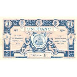 Aurillac (Cantal) - Pirot 16-4c - Série D - 1 franc - 1915 - Etat : NEUF