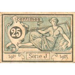 Aurillac (Cantal) - Pirot 16-11 - 25 centimes - Série J - 1917 - Etat : TB+