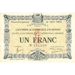 Avignon - Pirot 18-5 - 1 franc - 11/08/1915 - Etat : TTB+