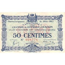 Avignon - Pirot 18-13 - 50 centimes - 11/08/1915 - Etat : TTB