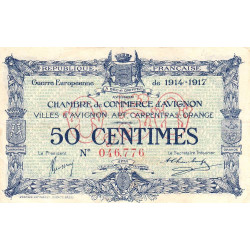 Avignon - Pirot 18-13a - 50 centimes - 1915 - Etat : TTB