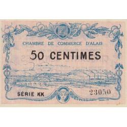 Alais (Alès) - Pirot 4-7 - 50 centimes - Série KK - 30/03/1916 - Etat : SPL