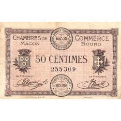 Macon et Bourg - Pirot 78-1 - 50 centimes - Sans série - 01/09/1915 - Etat : TB