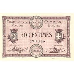 Macon et Bourg - Pirot 78-1 - 50 centimes - Sans série - 01/09/1915 - Etat : SPL+