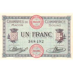 Macon et Bourg - Pirot 78-3 - 1 franc - Sans série - 01/09/1915 - Etat : SPL