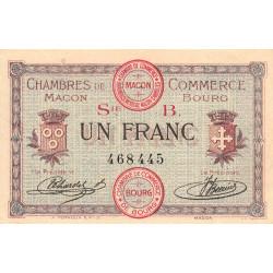 Macon et Bourg - Pirot 78-6 - 1 franc - 1915 - Etat : SUP