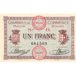 Macon et Bourg - Pirot 78-6 - 1 franc - Série B - 01/09/1915 - Etat : NEUF