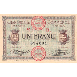 Macon et Bourg - Pirot 78-6 - 1 franc - Série B - 01/09/1915 - Etat : SUP+