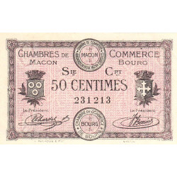 Macon et Bourg - Pirot 78-7 - 50 centimes - 1915 - Etat : SPL