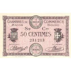 Macon et Bourg - Pirot 78-7 - 50 centimes - Série Crt - 01/09/1915 - Etat : SPL