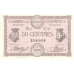 Macon et Bourg - Pirot 78-7 - 50 centimes - 1915 - Etat : NEUF