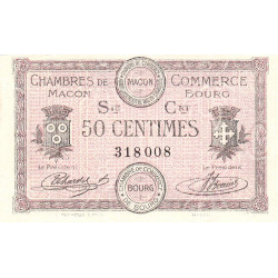 Macon et Bourg - Pirot 78-7 - 50 centimes - Série Crt - 01/09/1915 - Etat : NEUF