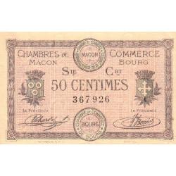 Macon et Bourg - Pirot 78-7 - 50 centimes - 1915 - Etat : TTB-