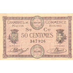 Macon et Bourg - Pirot 78-7 - 50 centimes - Série Crt - 01/09/1915 - Etat : TTB-