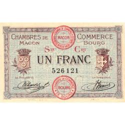 Macon et Bourg - Pirot 78-8 - 1 franc - Série Crt - 01/09/1915 - Etat : NEUF