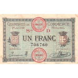 Macon et Bourg - Pirot 78-10 - 1 franc - Série D - 15/12/1917 - Etat : TB+