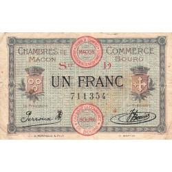 Macon et Bourg - Pirot 78-10 - 1 franc - Série D - 15/12/1917 - Etat : TB