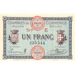 Macon et Bourg - Pirot 78-12 - 1 franc - Série E - 27/04/1920 - Etat : NEUF