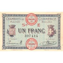 Macon et Bourg - Pirot 78-12 - 1 franc - 1920 - Etat : SPL
